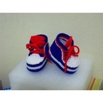 Zapatillas Para Bebés Tejidas A Crochet