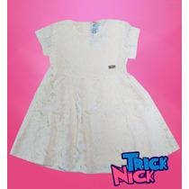 Vestido Rendado Off White Trick Nick Tam 2/4/6/8/10 Menina