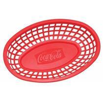 Paquete 4 Canastas Charola Cesta Para Hamburguesas Coca Cola