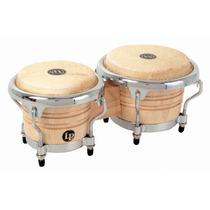 Mini Bongos Lp Latin Percusión Madera Natural Comfort Curve