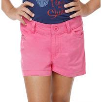 Shorts Infantil Em Sarja Azul Ou Rosa T. 2,4,6 E 8! Novo