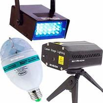 Kit Festa Iluminação 110v - Strobo Laser Bola Maluca Skyshow