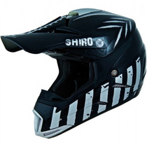 Casco Enduro / Cross Shiro Mx 305 Scorpion Black Shine - Fas