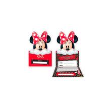 40 Convites De Festa Infantil Tema Minnie Disney Vermelho