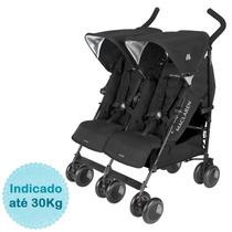 Carrinho De Bebê Para Gêmeos Twin Techno Maclaren - Black
