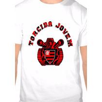 Camiseta Flamengo Torcida Jovem Estampada Só Na Frente