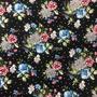 Flores y Lunares Negro (Polilycra)