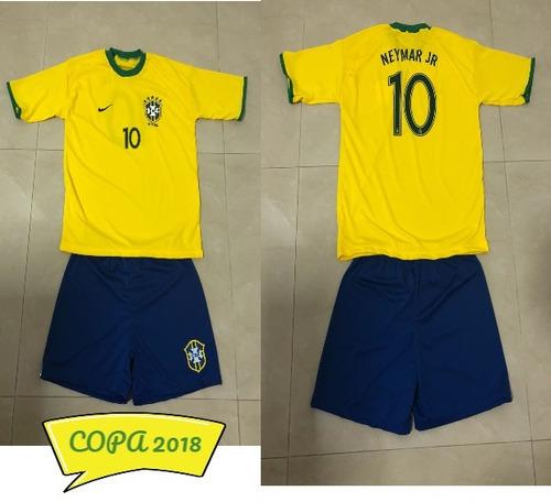 Conjunto Uniforme Seleção Brasileira - Infantil - Copa 2018 - R  45 ... 0cf3b246fb7a3