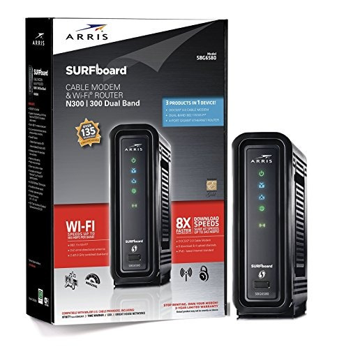 Arris Surfboard Sbg6580 Docsis 3 0 Cable Modem Wi Fi N300