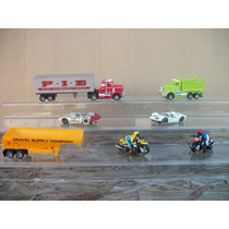 Tm.tyco Lote Trailer , Camion,motos & Cars