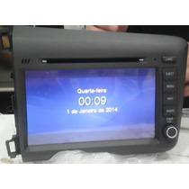Kit Multimídia M1 3g Honda Civic 2012 13 14 Cinza Com De Voz