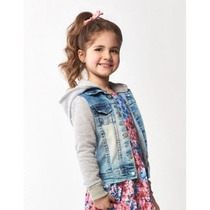 Jaqueta Jeans Com Moletom Infantil