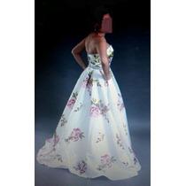 Vestido D Fiesta Talla 6-7 Una Puesta Hermoso Largo Elegante