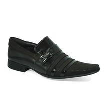 Sapato Masculino Verniz Couro Legítimo Calvest+meia Social
