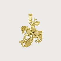 Pingente De São Jorge Em Ouro 18k (750).