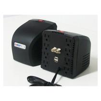 Regulador Voltaje 1300va Supr Tv 2 Usb 8/contactos 60.mes/gt
