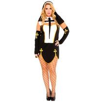 Disfraz Mujer Monja Sexy Mala Halloween Adulto Plus Size