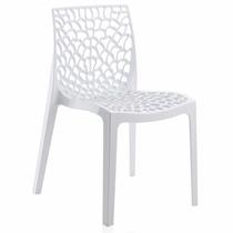 Cadeira Gruvyer Branca Italiana Polipropileno Rivatti