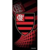 Toalha De Banho Flamengo Buettner Veludo Rubro Negro