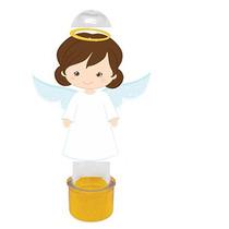 Tubete Personalizado 3 D Anjinhos Para Batizado