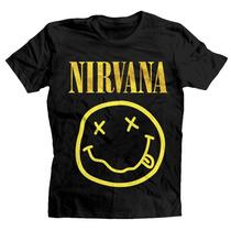 Playera Nirvana Logo Smiley Face Carita Official Merchandise