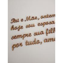 Palavras E Frases Mdf Cada 5 Letras 2cm Altura