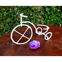 Souvenir Mini Bicicleta En Hierro Vintage - Artesanal!!