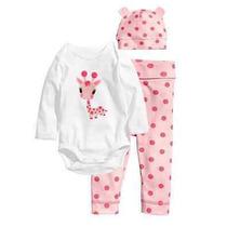 Pijama Bebê 3 Peças Importado Recém Nascido