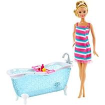 Juguete Barbie Doll Y Bañera Playset