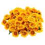 200 Mini Florzinhas Amarelas Margaridas Flores Artificiais