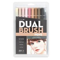 Tombow Dual Brush Set 10 Color Piel