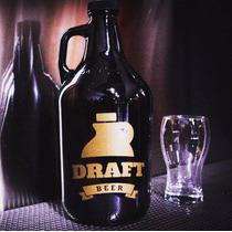 Growler Botellon Impreso Con Tu Logo Para Cerveza Artesanal