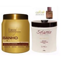 Selante Térmico Argan Oil 500g + Banho De Verniz + Óleo 7ml
