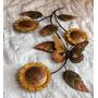 Figura Decorativa, Flores Y Mariposa, De Pared, 60 X 40 Cms