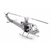 Helicóptero Uh-1 Huey * Metal Earth Kit Aço Inox - Mms011