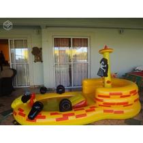 Piscina Play Ground Inflável Navio Pirata Infantil Intex Ri