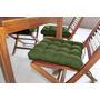Jogo Acento P/ Cadeira 40cm X 40cm (kit C/ 6 Peças) Verde