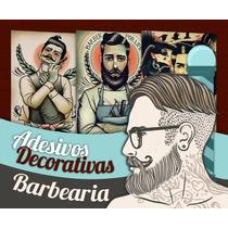 Adesivos Decorativos Barbearia - 30x20cm - Promoções