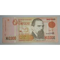 Billete De Uruguay 2000 Nuevos Pesos *025