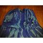 Vestido De Fiesta Tlalle M Tafeta Azul Impecabl