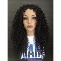 Wig Lace Black Cachos Fibra Bio Importada Frete Gratis!