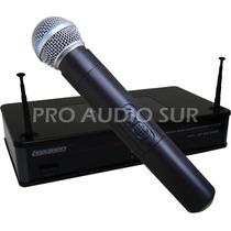 Microfono Inalambrico Lexsen Mano Uhf One In One Profesional