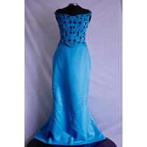 Lote 5 Vestidos Fiesta Azul Y Rosa