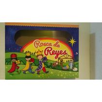 Caja Para Rosca De Reyes Carton Impresa Varios Tamaños $12.5