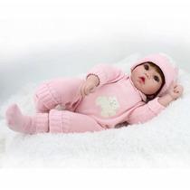 Linda Boneca Bebe Reborn Silicone 50cm Parece Real