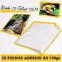 Papel Foto Auto Adesivo A4 130 Gr 20 - Folhas + Brinde