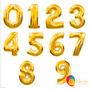 Balões Metalizados De Números Kit Com 11 Números 4 E 11 0