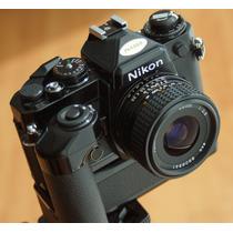 Nikon Fe**unica Black 35mm C/motor Md-12 Cero Detalle