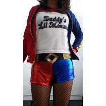 Disfraz Estilo Harley Quinn Escuadron Suicida Halloween