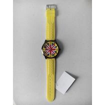 Reloj Bandera Britanica. Souvenir Nuevo Original C/ Pila.